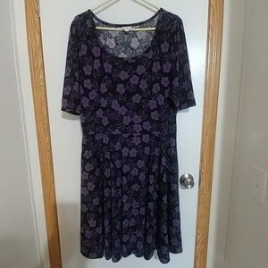 LuLaRoe Flower Print Dress 3XL